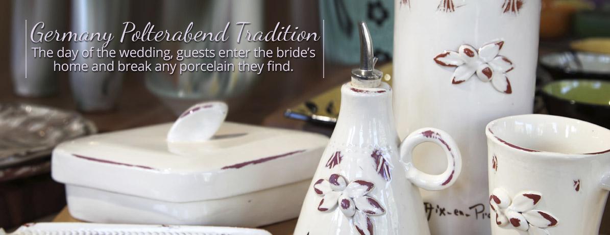 German Polterabend Wedding Tradition