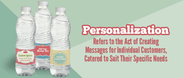 Personalized Custom Labeled Water Bottles