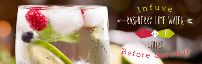 Fruit Infused Water Recipes: Raspberry Lime Water