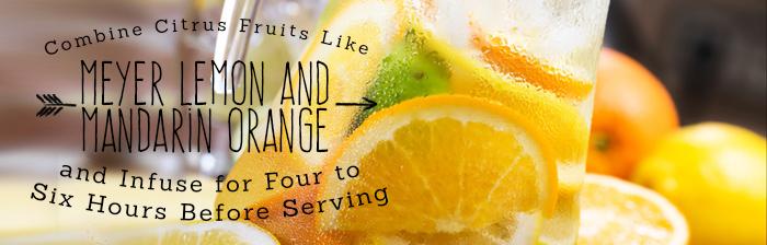 Fruit Infused Water Recipes: Meyer Lemon and Mandarin Orange