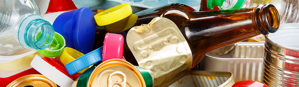 landfill debris