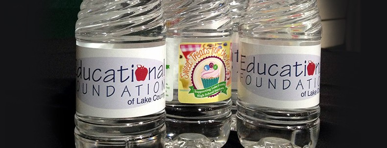 Education Foundation Water Bottle labels