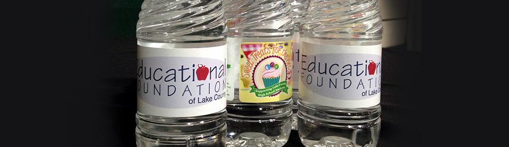 Education Foundation Water Bottle labels